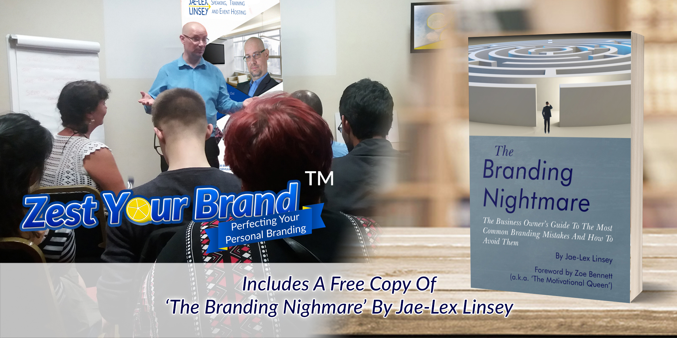 Jae-Lex Linsey Providing Branding Consultancy to a Client